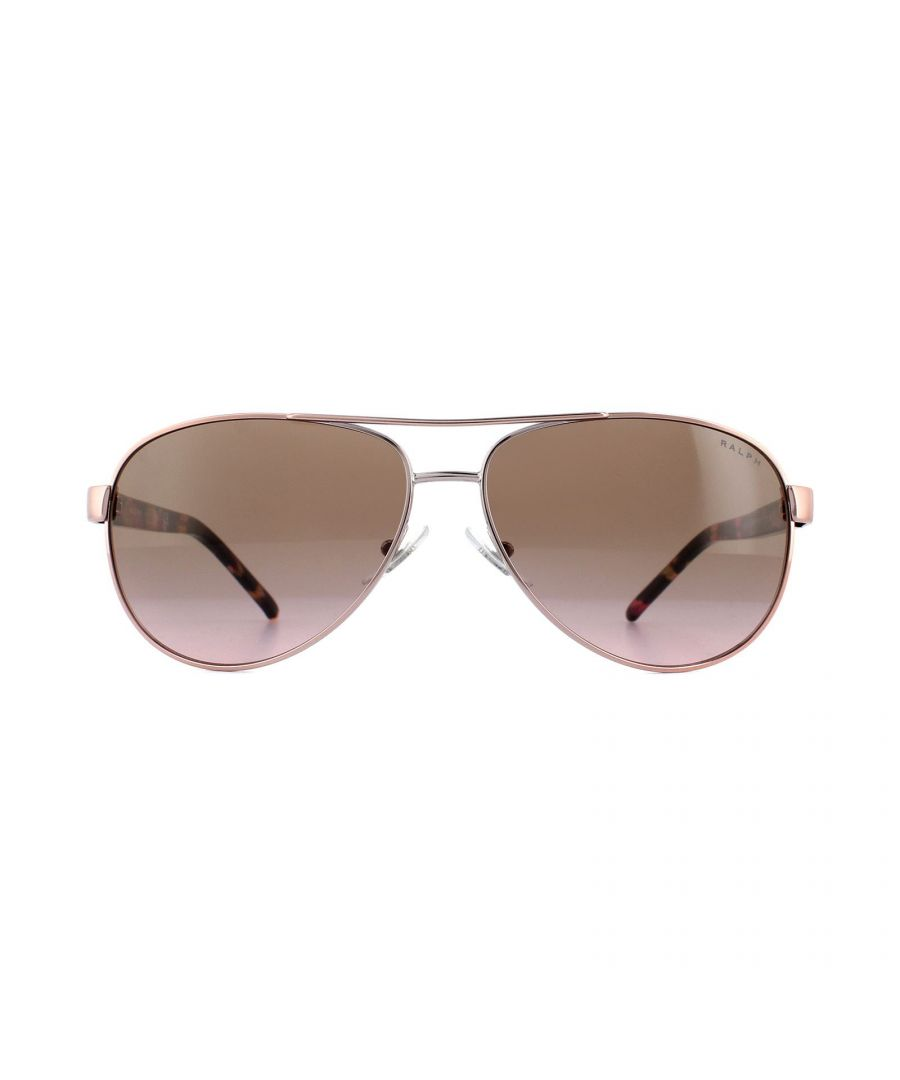 Image for Ralph by Ralph Lauren Sunglasses 4004 915814 Rose Gold Violet Gradient Brown