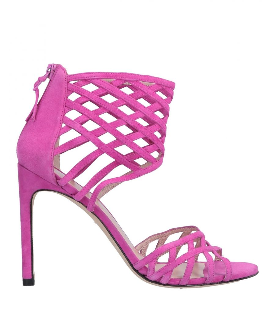 Image for Stuart Weitzman Fuchsia Leather Sandals