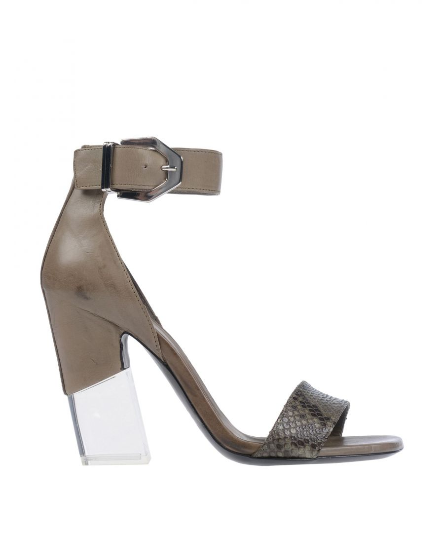 Image for Vic Matie Grey Leather Heels