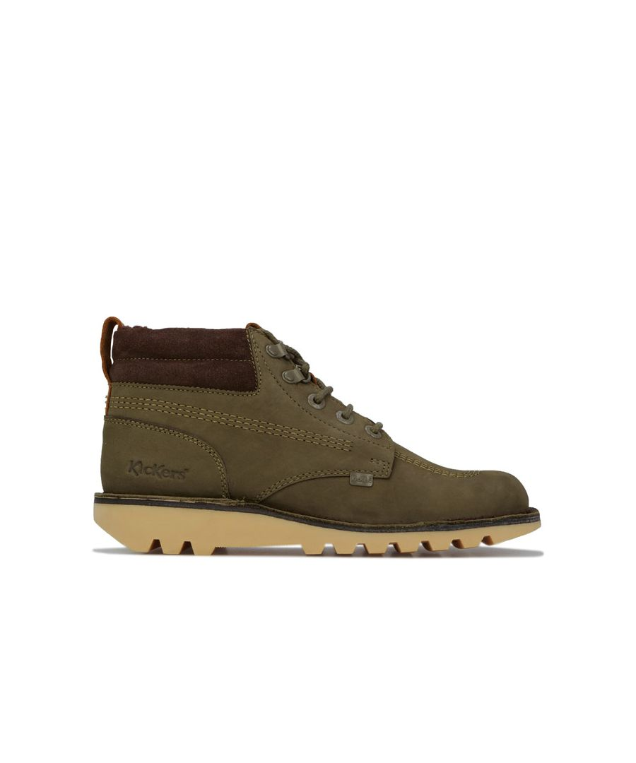 Image for Men's Kickers Kick Hi Leather Boots in olive