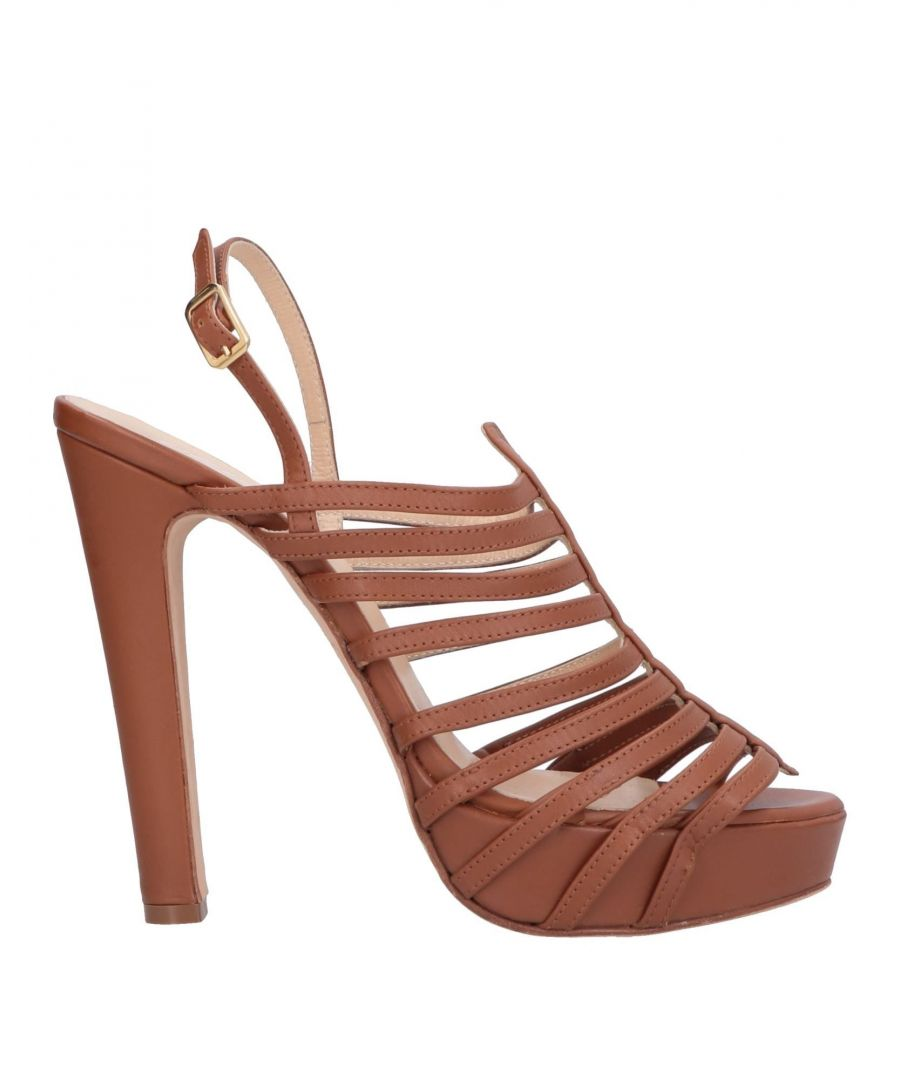 Image for Blugirl Blumarine Brown Leather Sandals