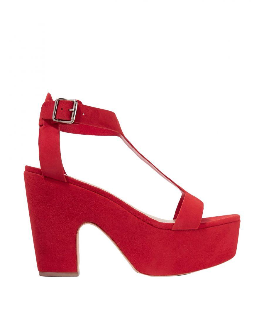 Image for Loeffler Randall Red Leather Sandali