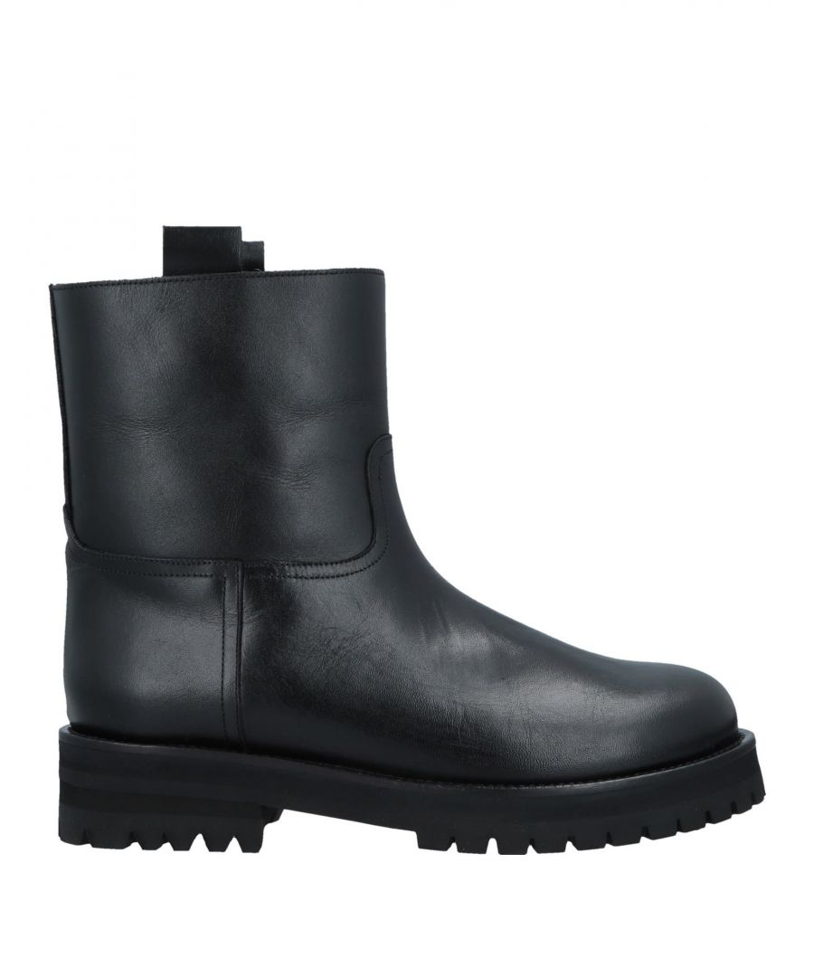 Image for L' Autre Chose Black Calf Leather Ankle Boots
