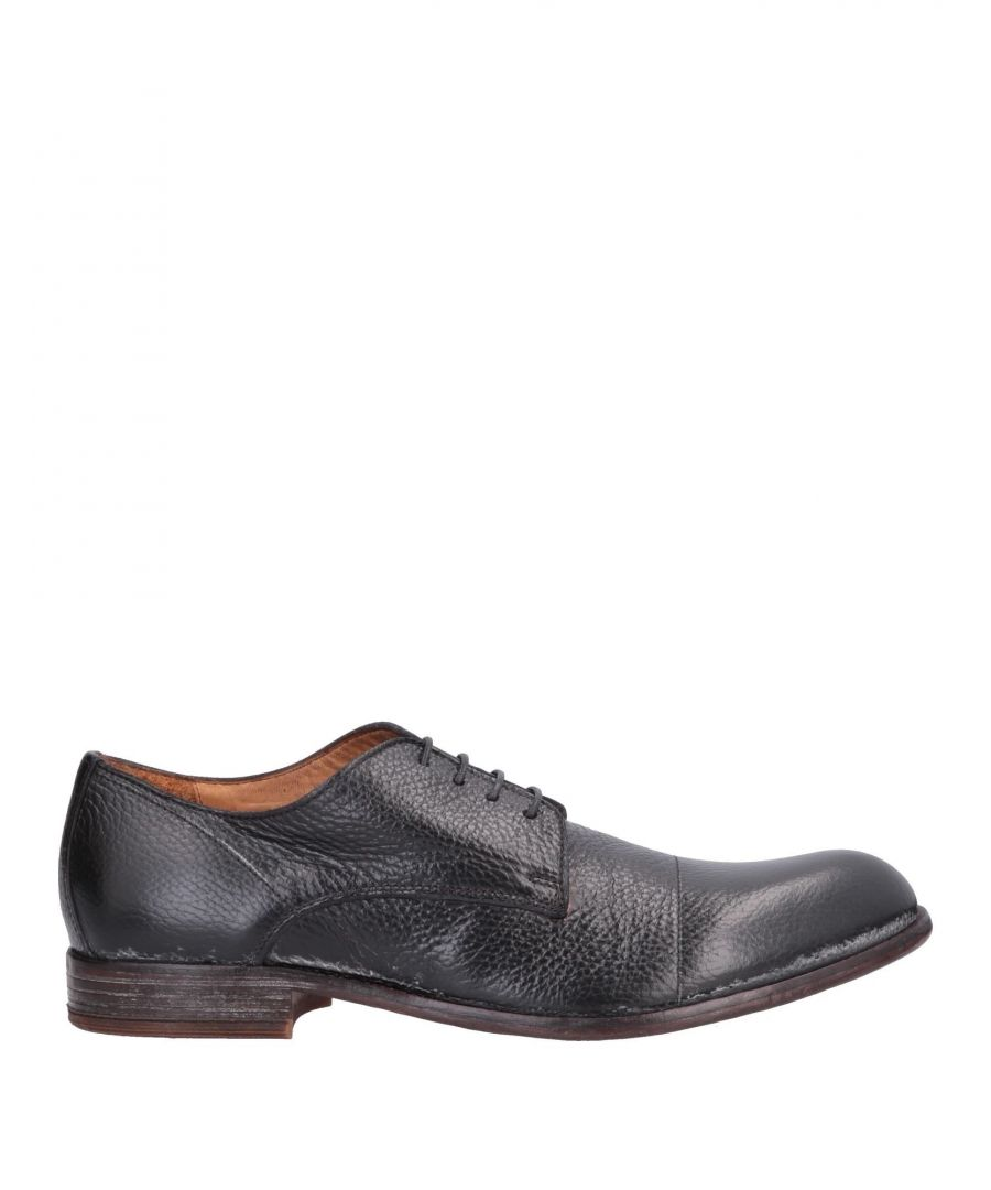 Image for Moma Black Calf Leather Lace Up Shoes