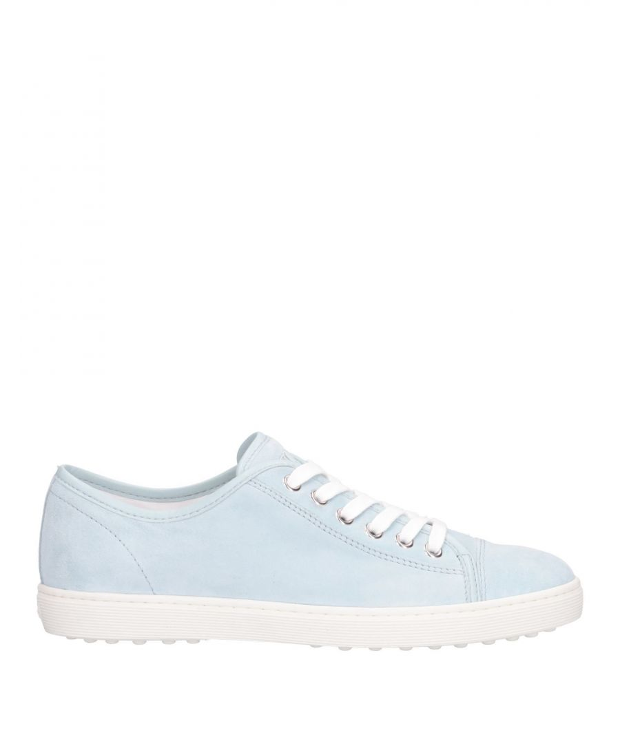 Image for Tod's Sky Blue Leather Sneakers