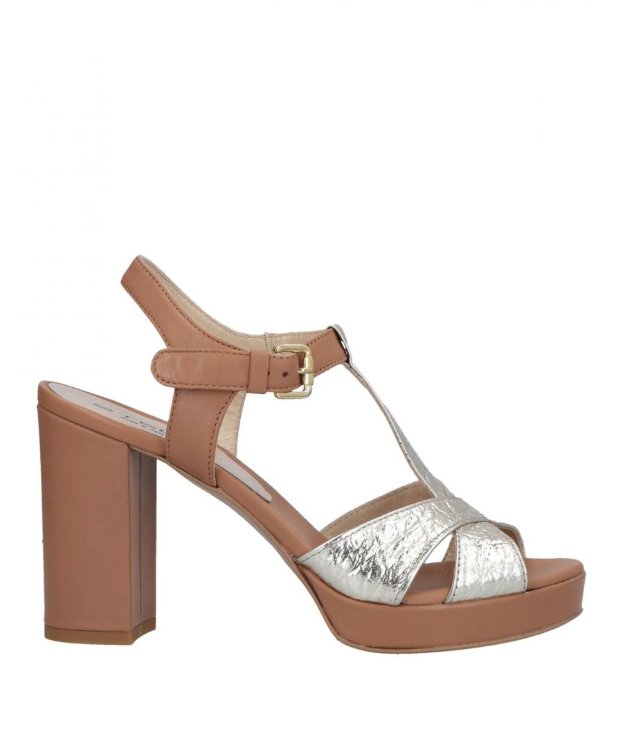 Image for Stele Platinum Calf Leather Heeled Sandals