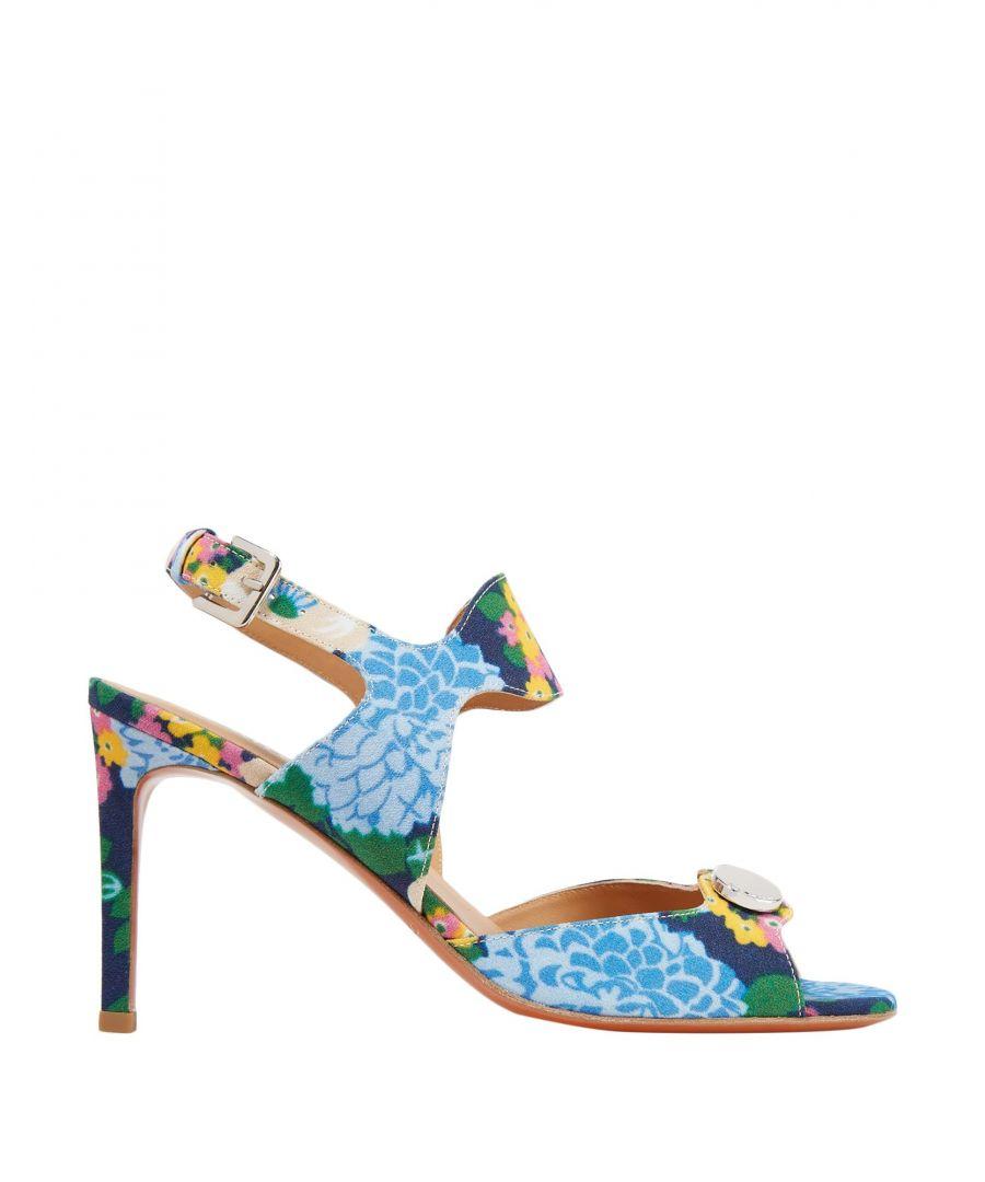 Image for Carven Blue Floral Design Heeled Sandals
