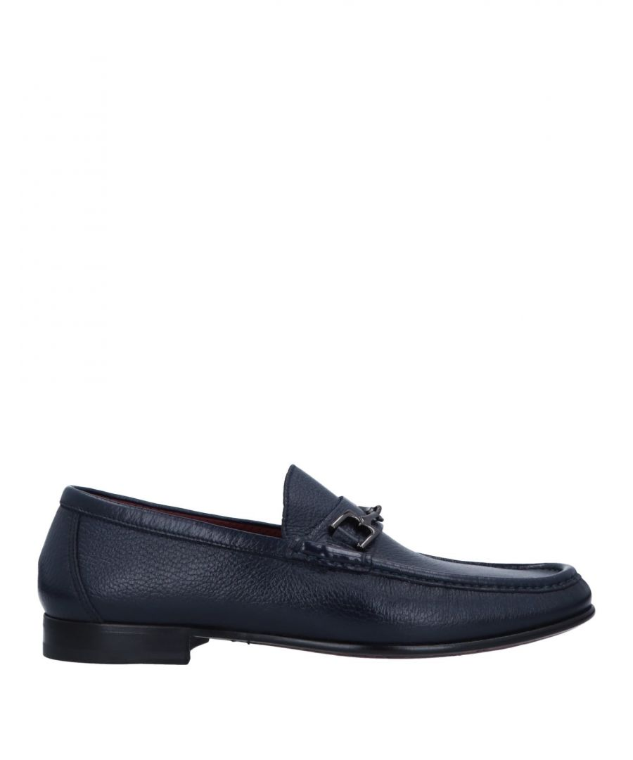 Image for Magli By Bruno Magli Dark Blue Leather Loafers