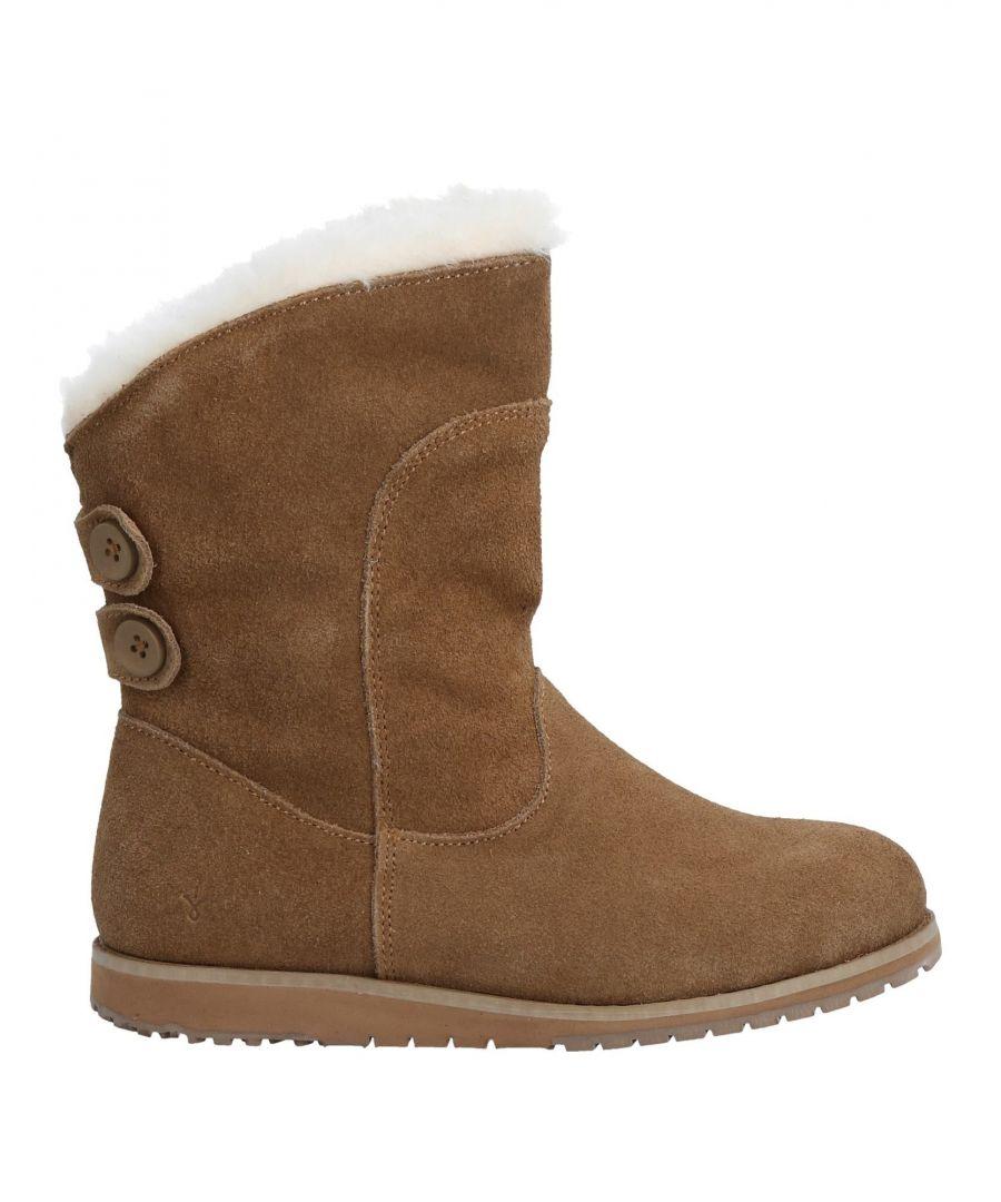 Image for FOOTWEAR Girl Emu Camel Leather