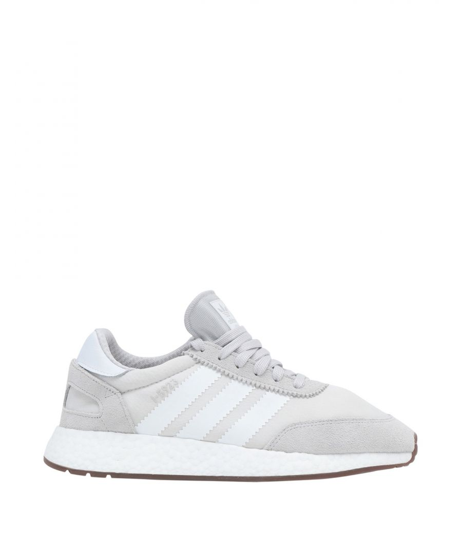 Image for Adidas Originals Light Grey Leather Sneakers