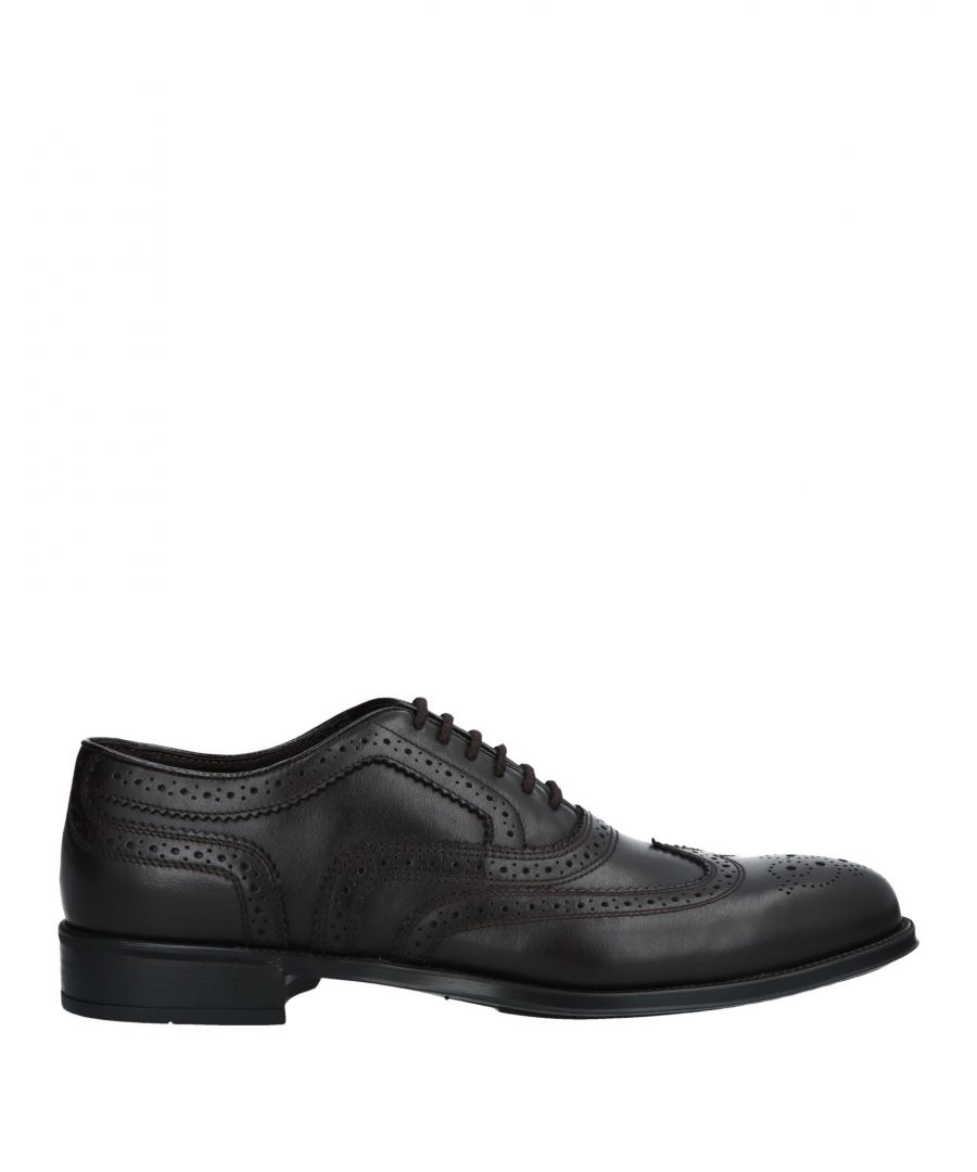 Image for Doucal's Dark Brown Calf Leather Shoes