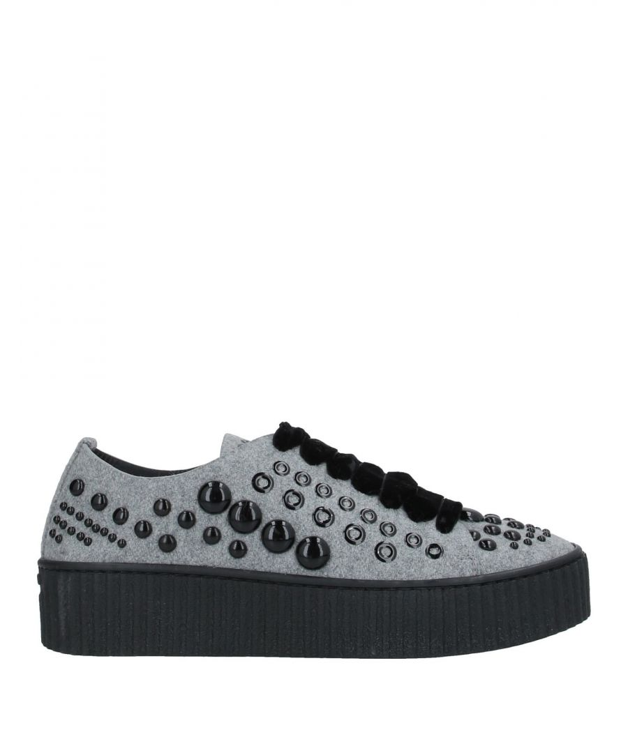 Image for Pinko Light Grey Studded Sneakers