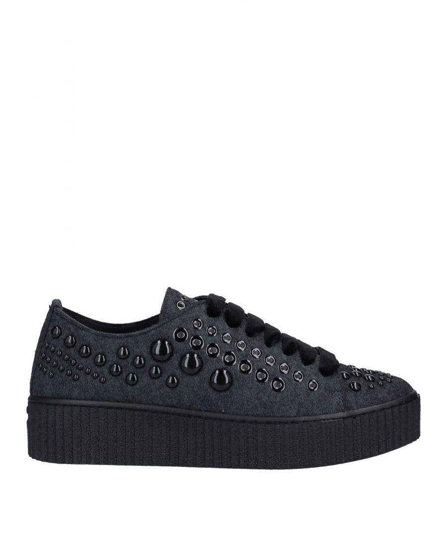 Image for Pinko Steel Grey Studded Sneakers