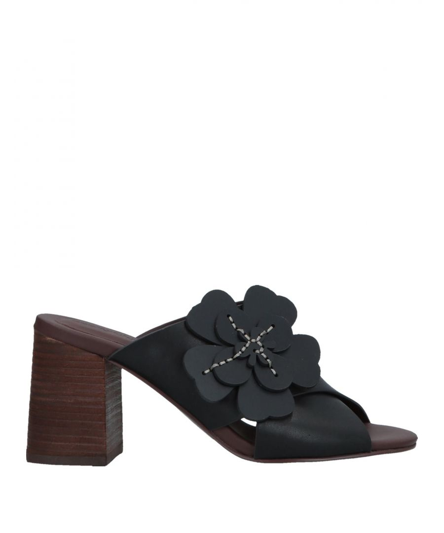 Image for See By Chloe Black Leather Sandals