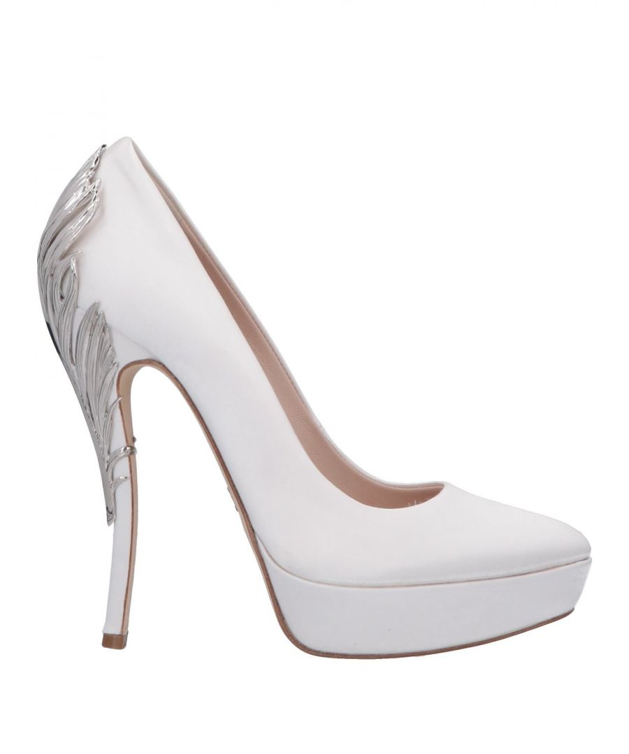 Image for Ralph & Russo White Satin Embellished Heels