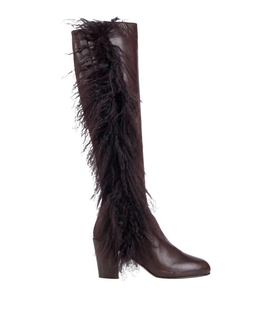 Image for Veronique Branquinho Women's Boots Dark Brown Leather