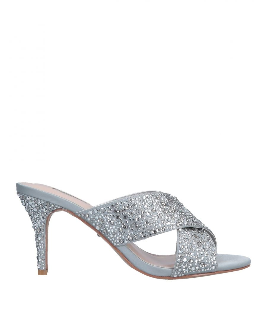 Image for Carvela Silver Embellished Heeled Mules