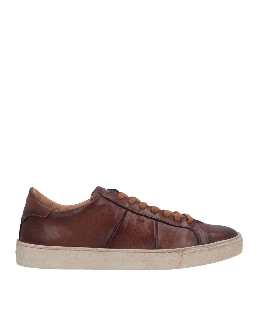 Image for Santoni Cocoa Leather Sneakers