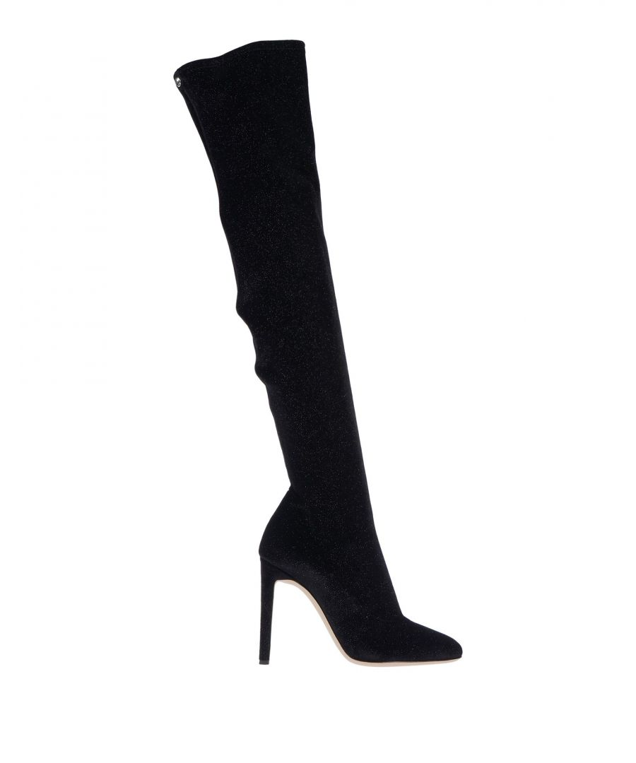 Image for Giuseppe Zanotti Black Velvet Over The Knee Boots