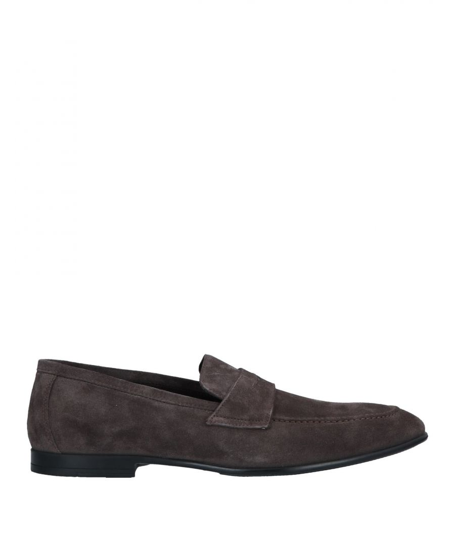 Image for Doucal's Steel Grey Leather Loafers