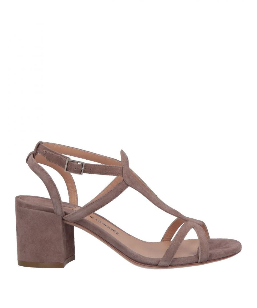 Image for Racine Carree Khaki Leather Heeled Sandals