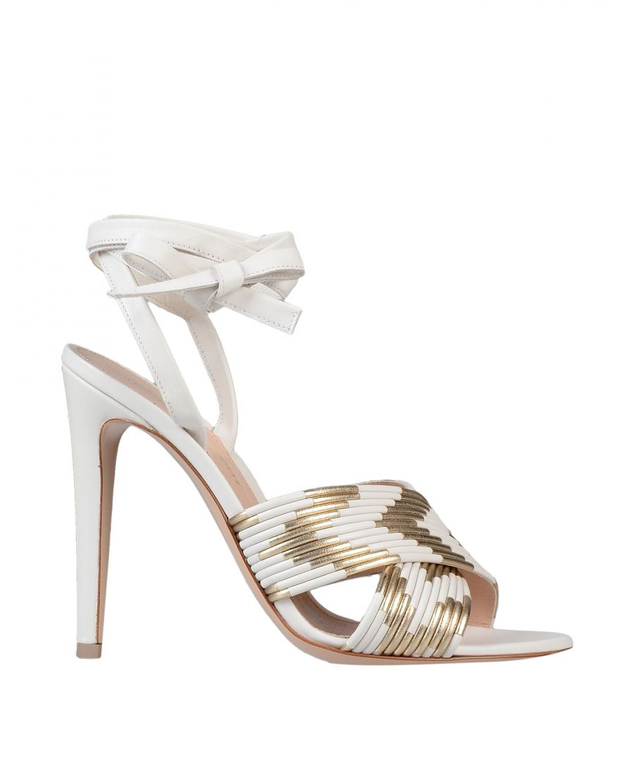 Image for Gianvito Rossi White Leather Heeled Sandals