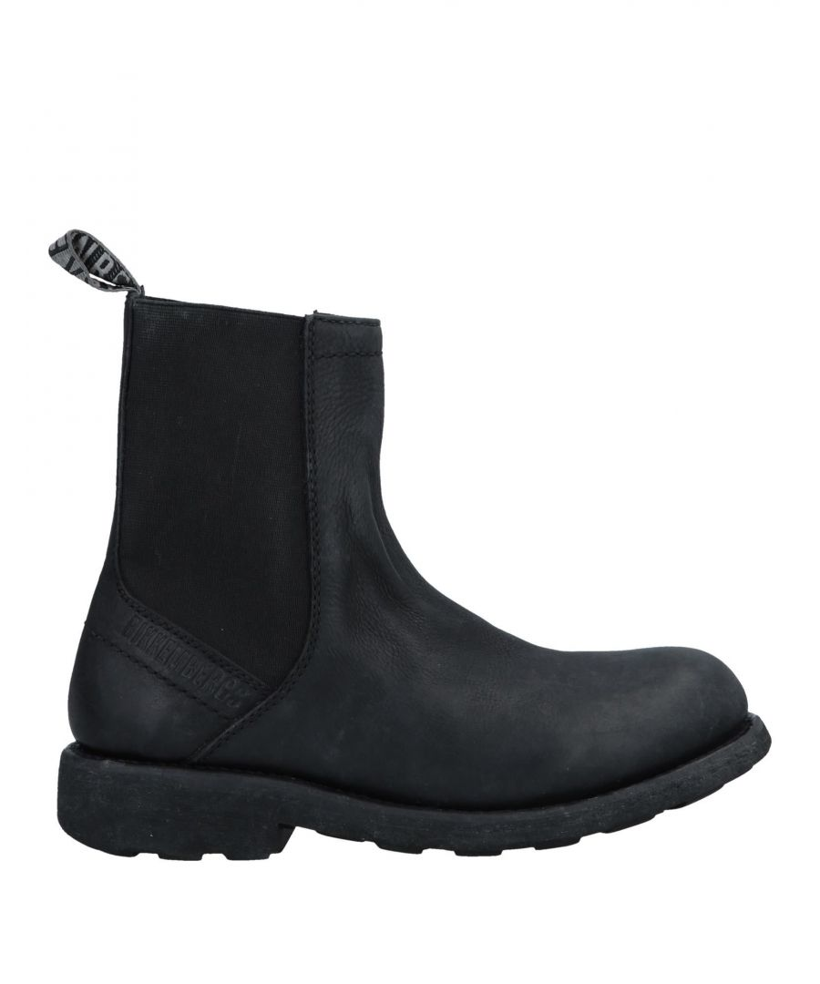 Image for Bikkembergs Black Leather Ankle Boots