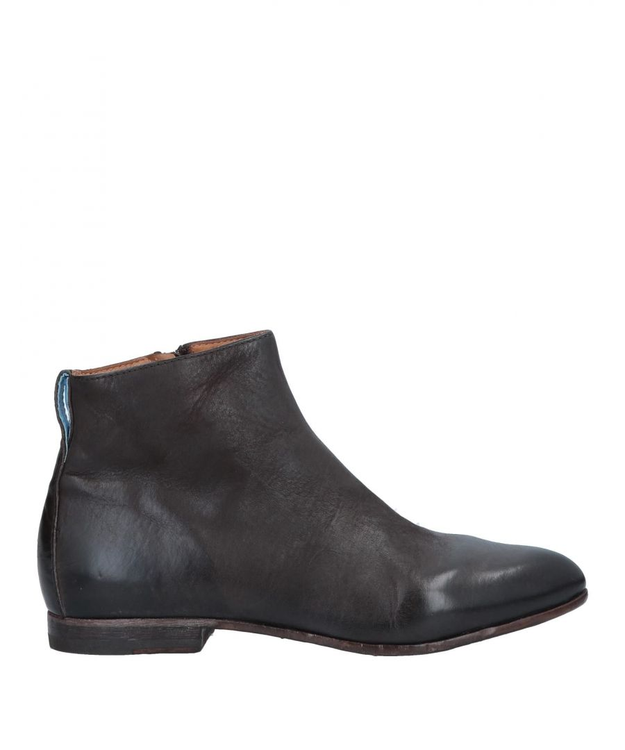 Image for Moma Dark Brown Leather Ankle Boots