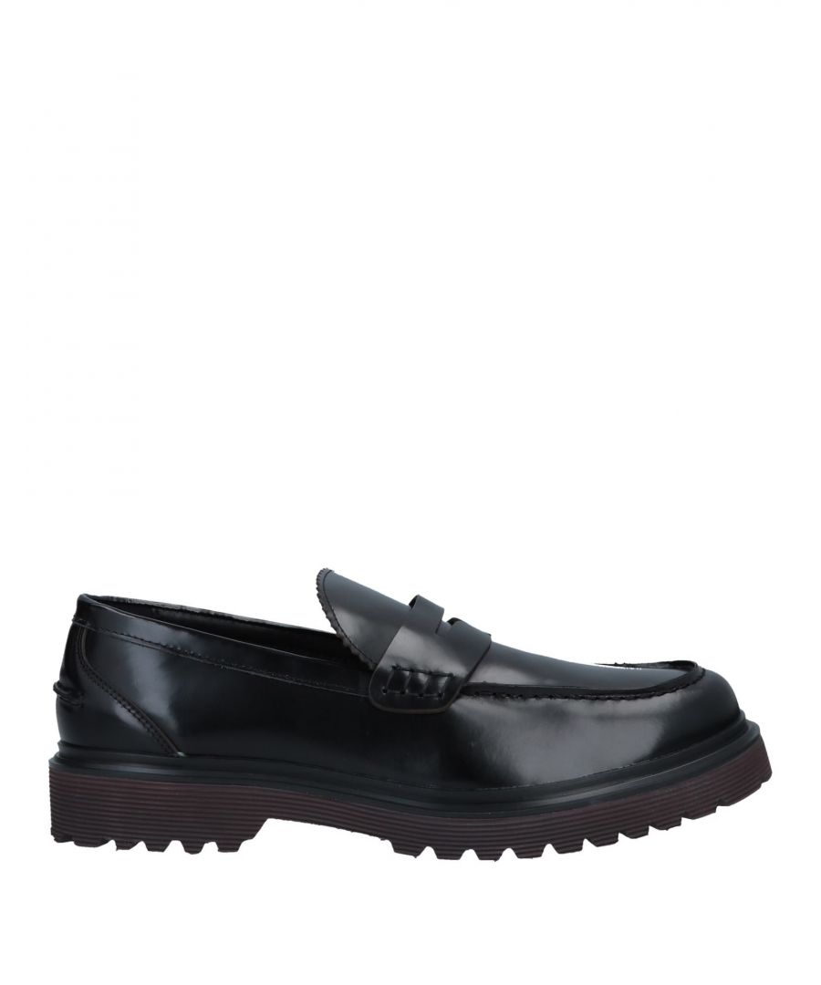 Image for Docksteps Black Leather Loafers
