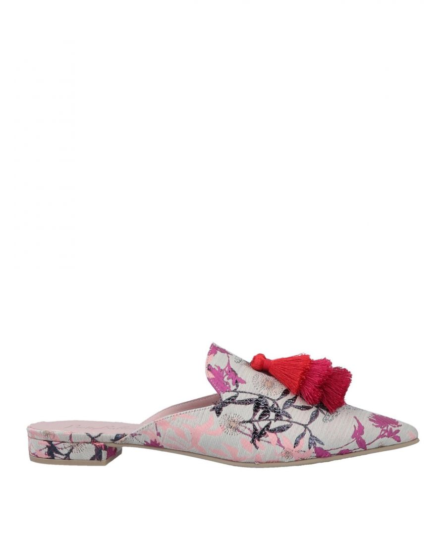 Image for Pretty Ballerinas Beige Floral Design Brocade Flat Mules