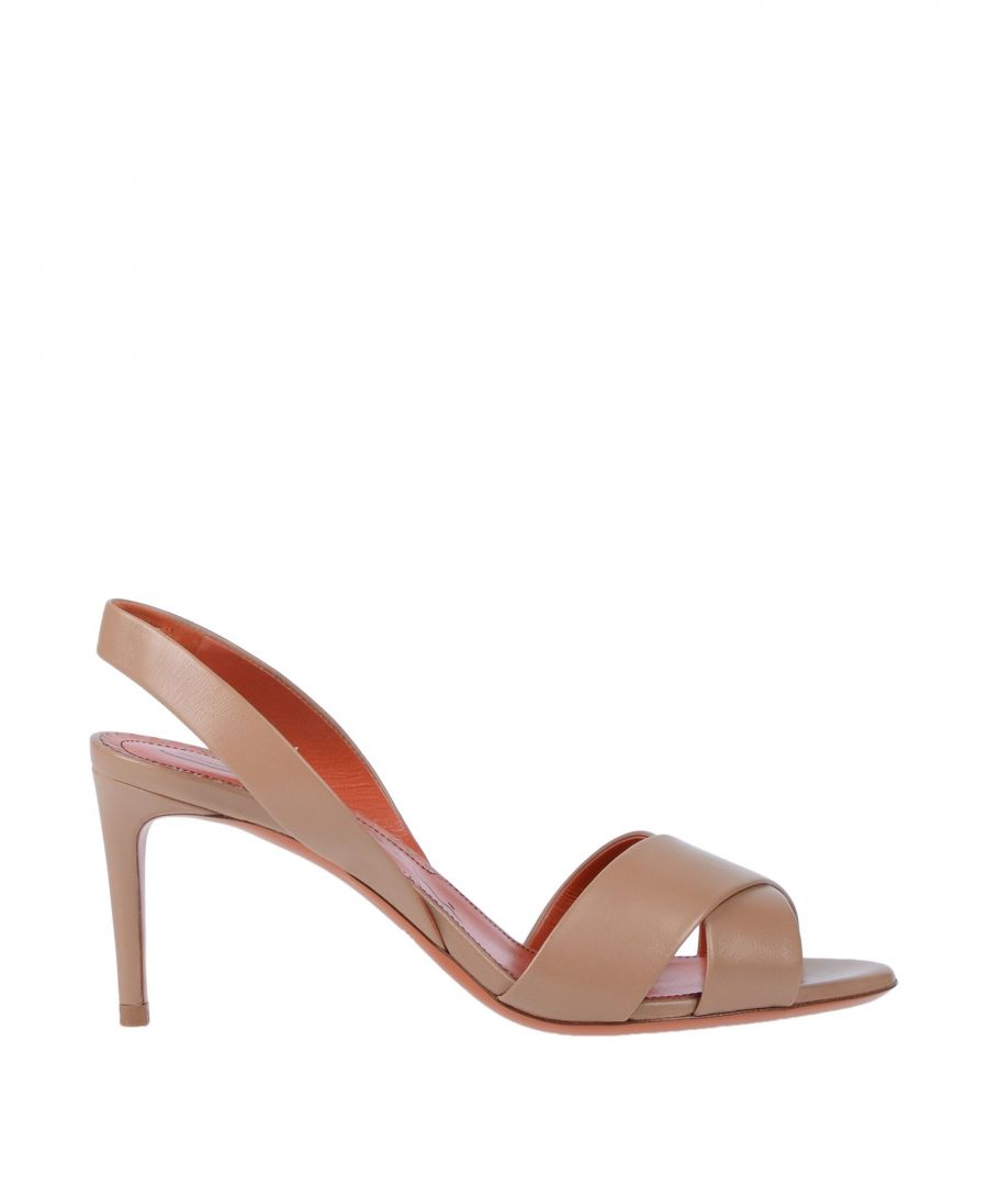 Image for Santoni Pale Pink Leather Slingback Heels