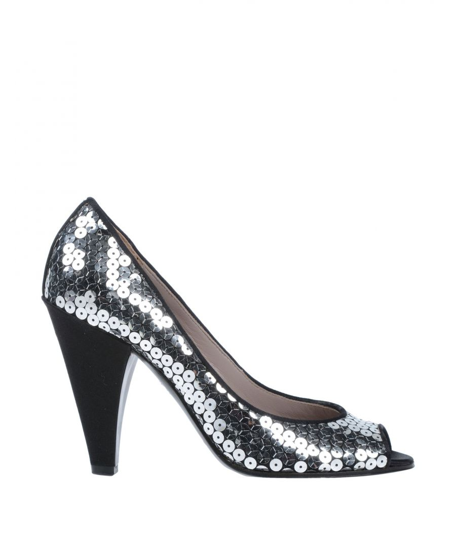 Image for Marc By Marc Jacobs Black Sequinned Peeptoe Heels