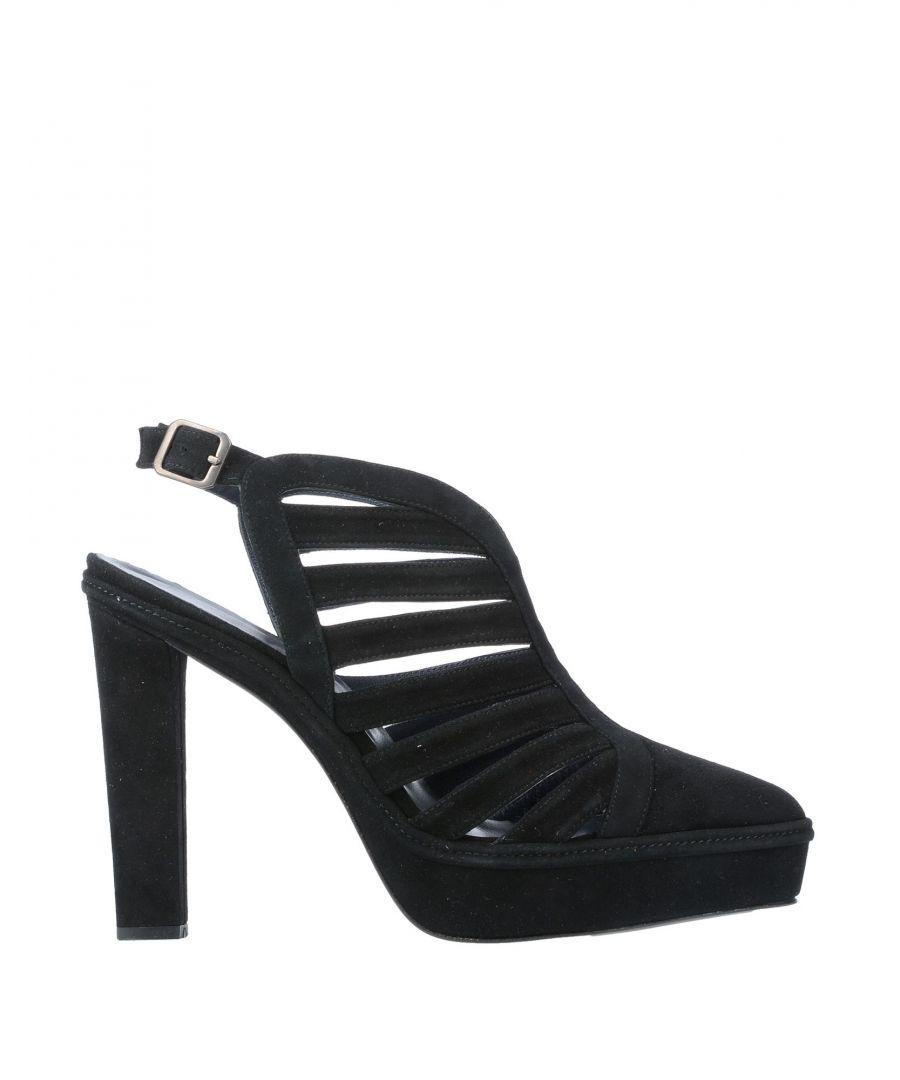 Image for Castañer Black Leather Heels