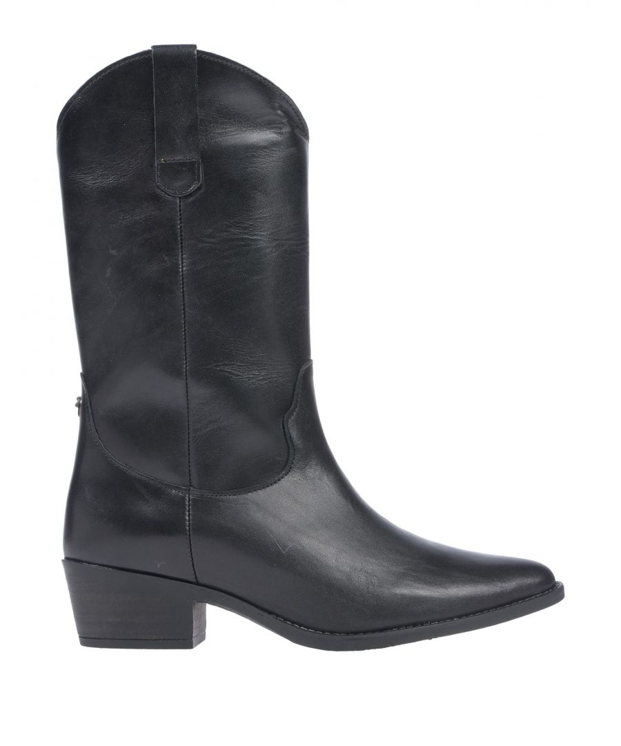 Image for Steve Madden Black Leather Boots