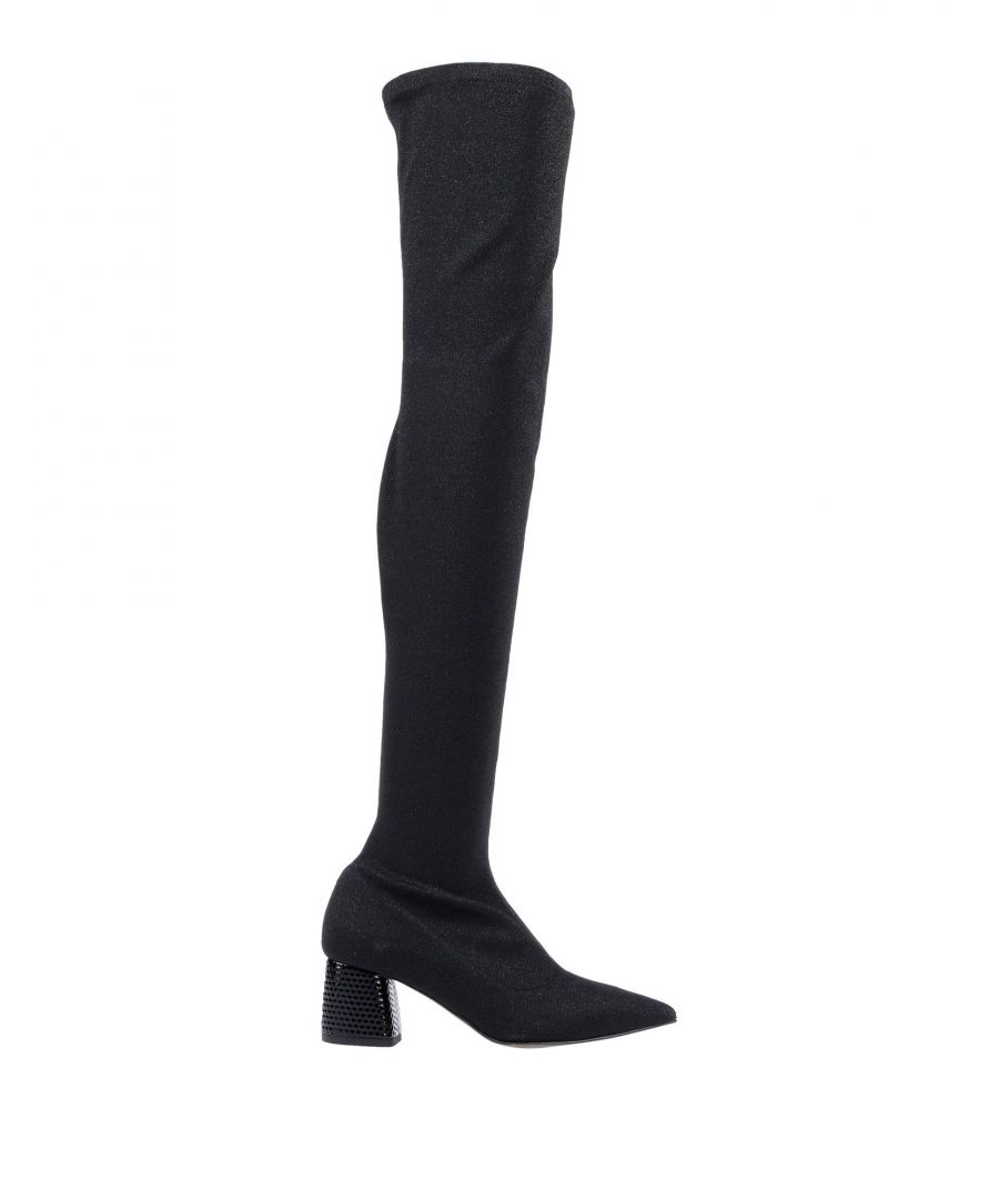 Image for Pollini Black Over The Knee Boots