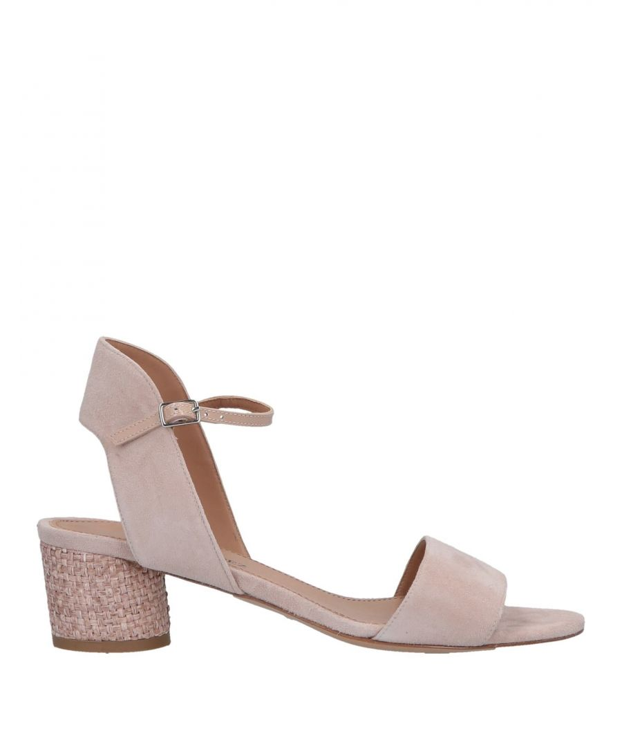 Image for Pura Lopez Pale Pink Leather Heeled Sandals