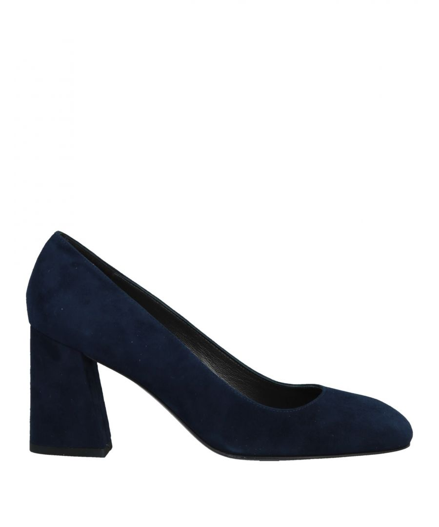 Image for Stuart Weitzman Dark Blue Leather Court Shoe Heels