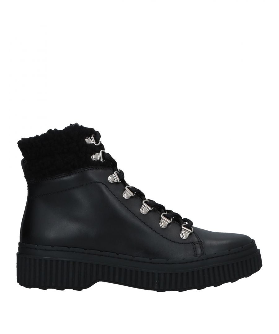 Image for Tod's Black Calf Leather Lace Up Boots