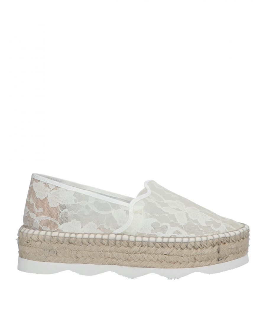 Image for Gaimo Ivory Lace Espadrilles