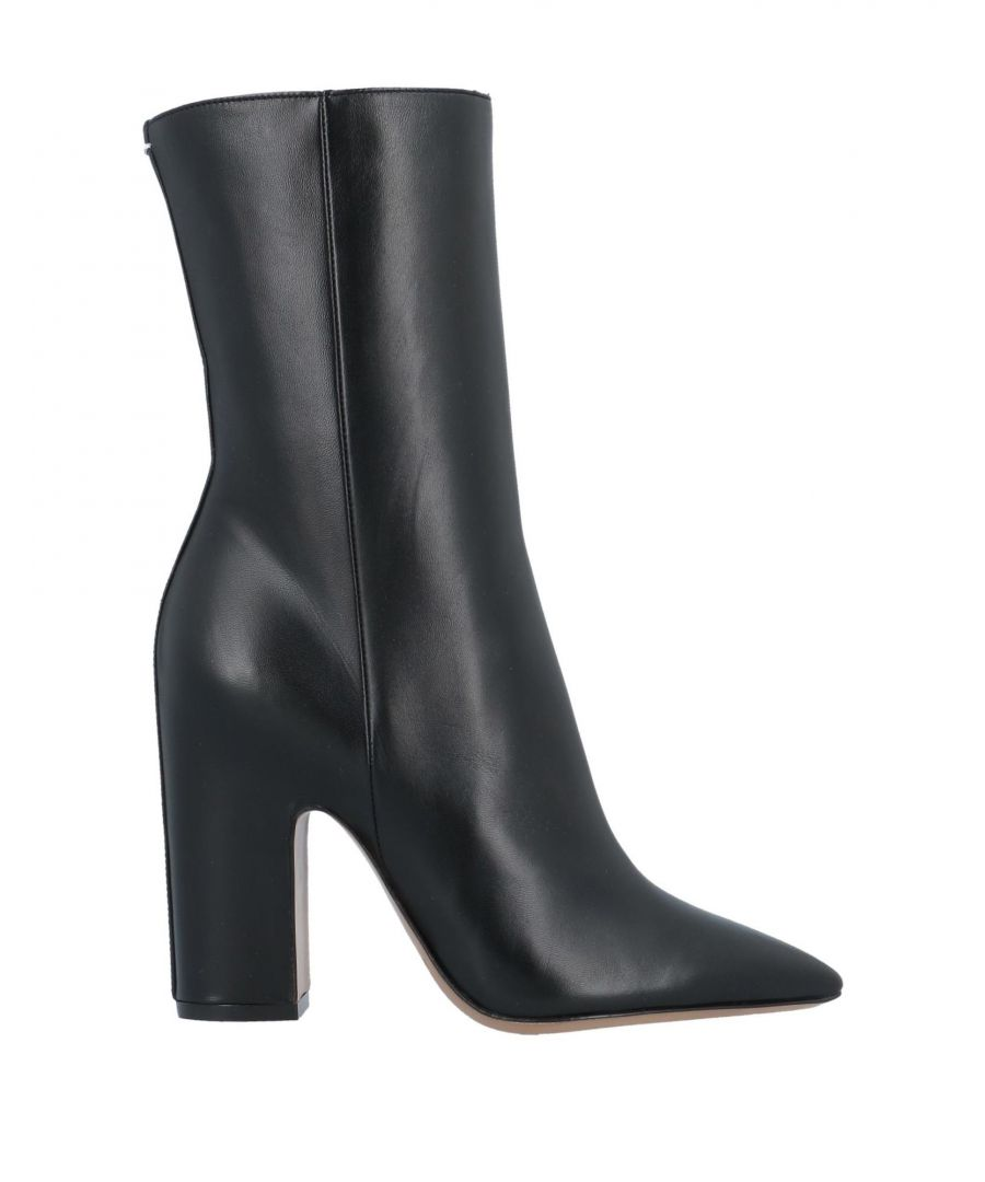 Image for Maison Margiela Black Leather Ankle Boots