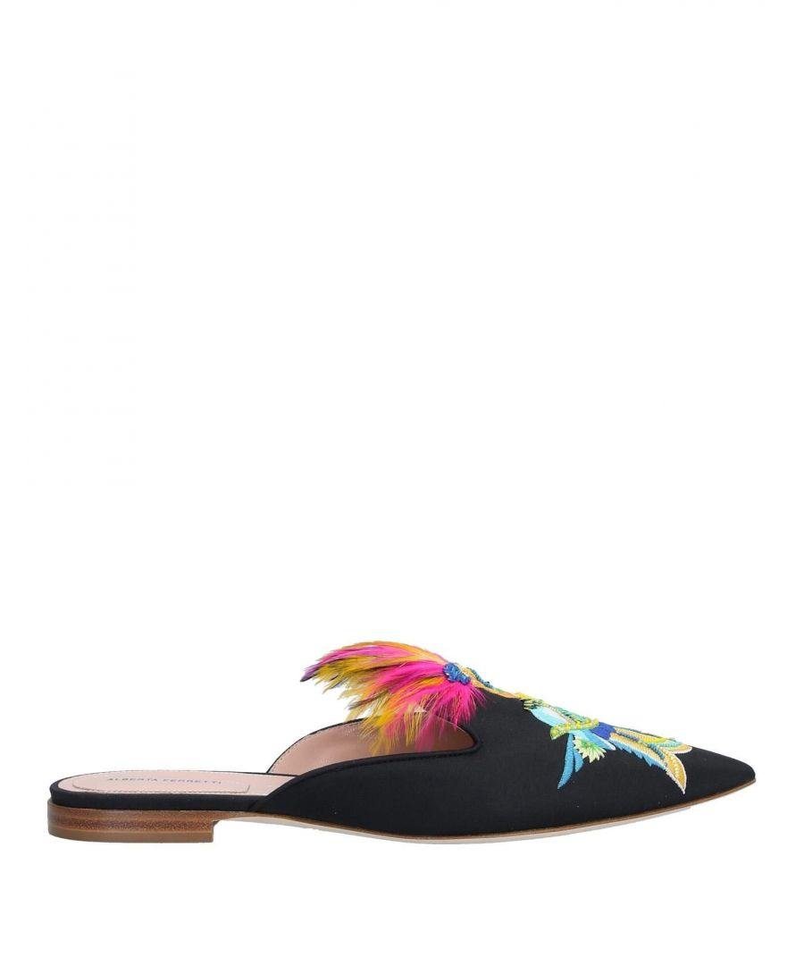 Image for Alberta Ferretti Black Flat Pointed Mules