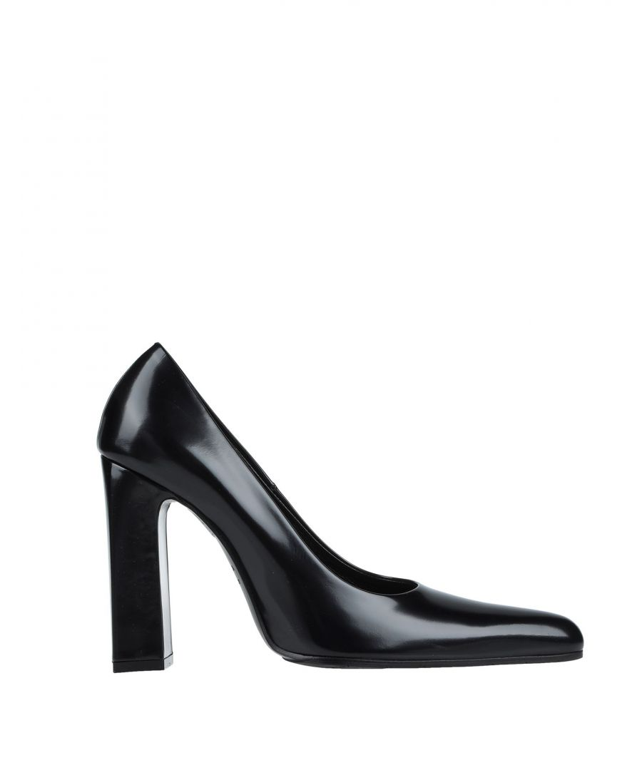 Image for Balenciaga Black Polished Calf Leather Court Shoe Heels