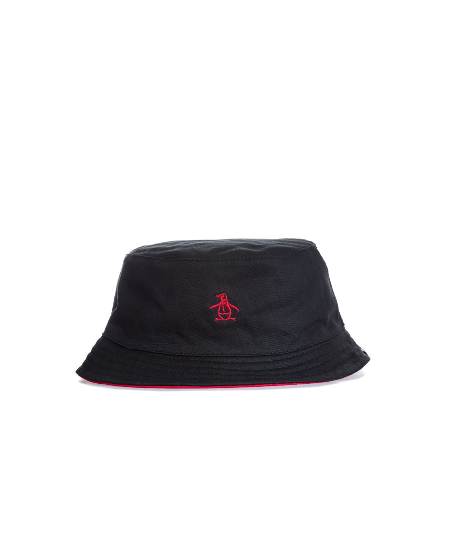 Image for Accessories Original Penguin Switch Bucket Hat in Black Red