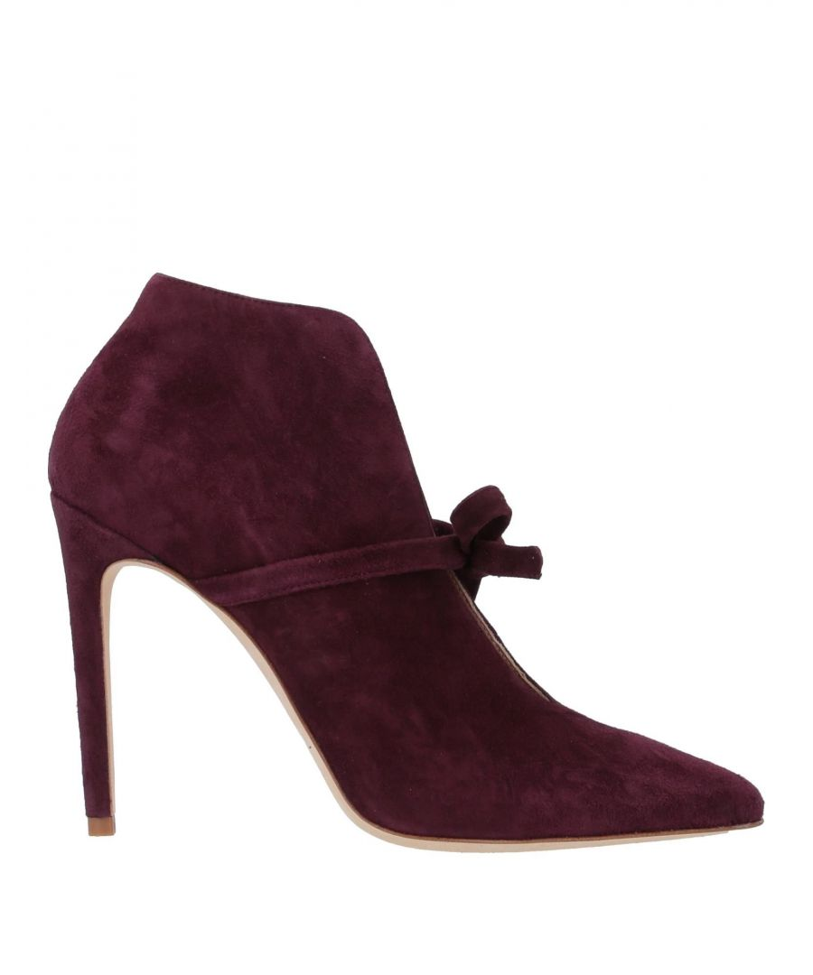 Image for Twinset Deep Purple Leather Ankle Boots