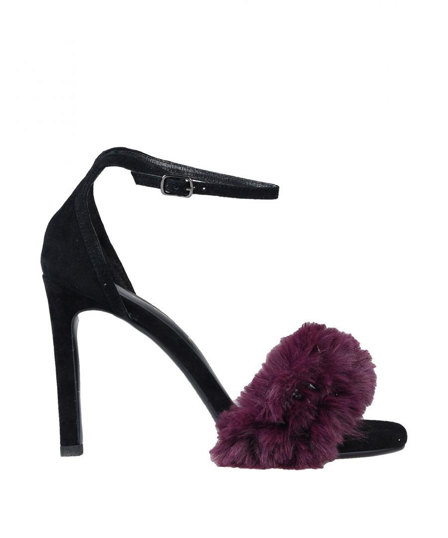 Image for Lola Cruz Purple Leather Heeled Sandals