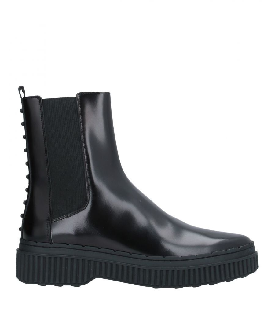 Image for Tod's Black Leather Ankle Boots