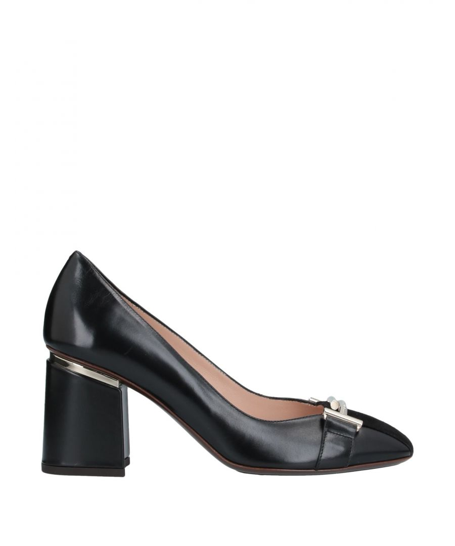 Image for Tod's Black Leather Heels