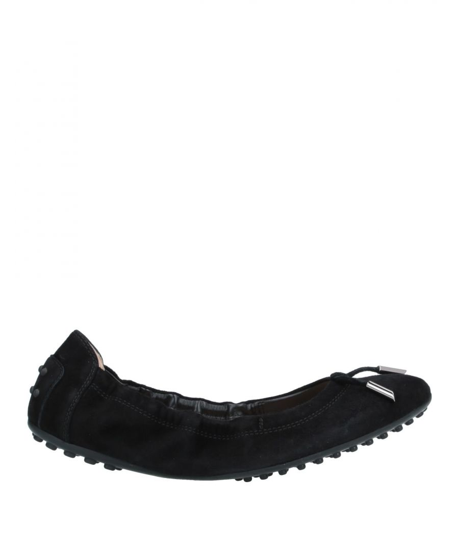 Image for Tod's Black Leather Ballet Flats