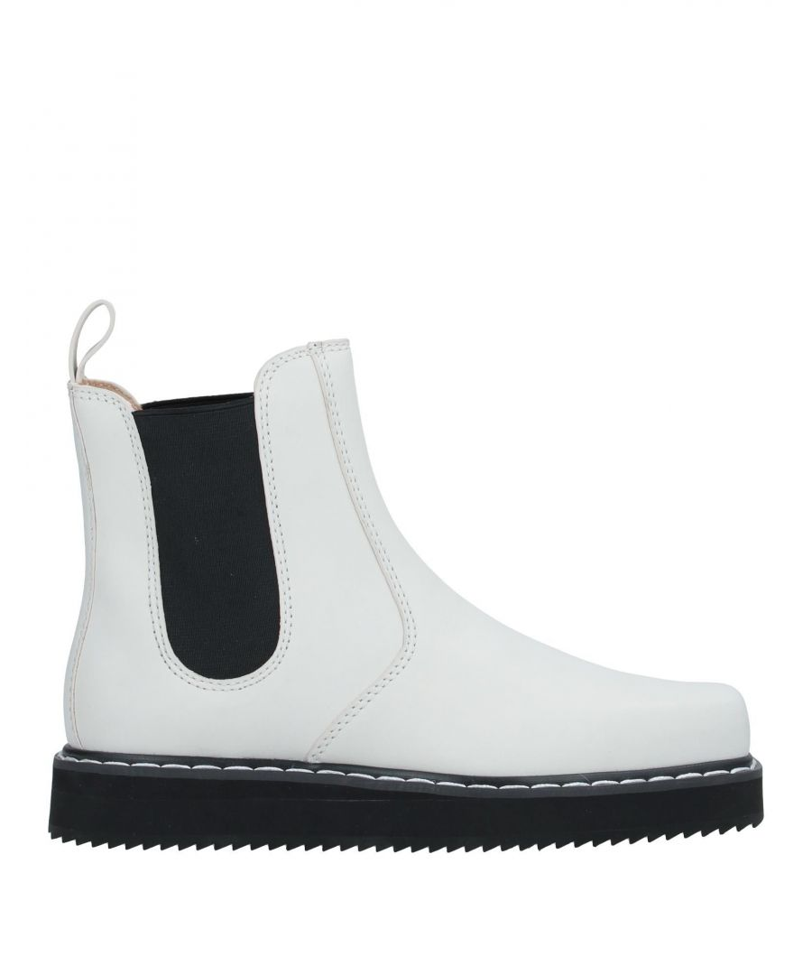 Image for Jil Sander Navy Ivory Calf Leather Flatform Ankle Boots