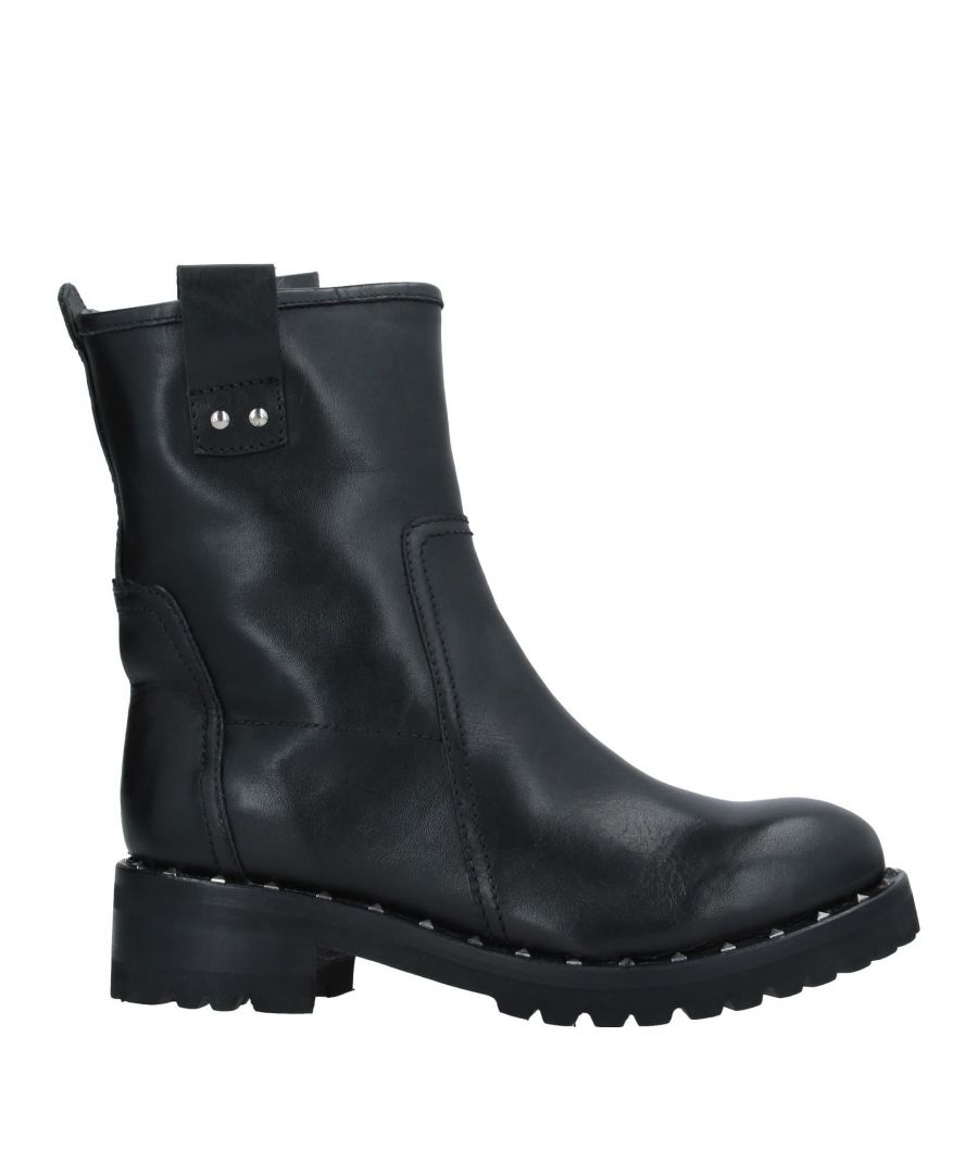 Image for Hadel Black Leather Biker Boots
